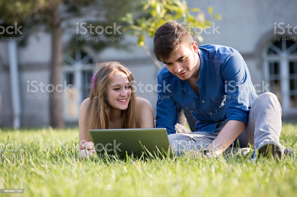 Students at the School royalty-free stock photo