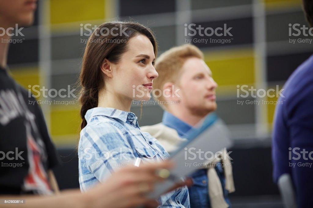 Studenten beim training Lizenzfreies stock-foto
