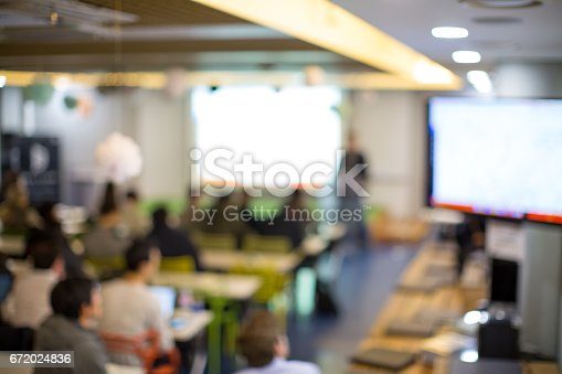 istock Students Attend a Presentation Meeting 672024836
