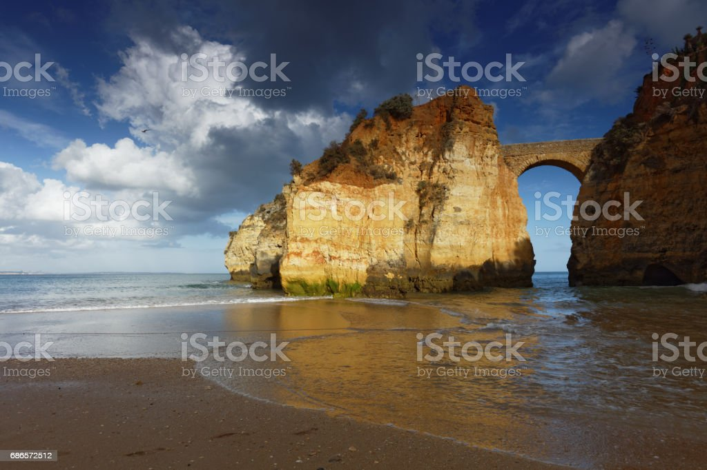 Estudantes beach in Lagos, Portugal royalty-free stock photo