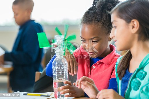 648947070 istock photo Students building windmill during elementary science class 505018812