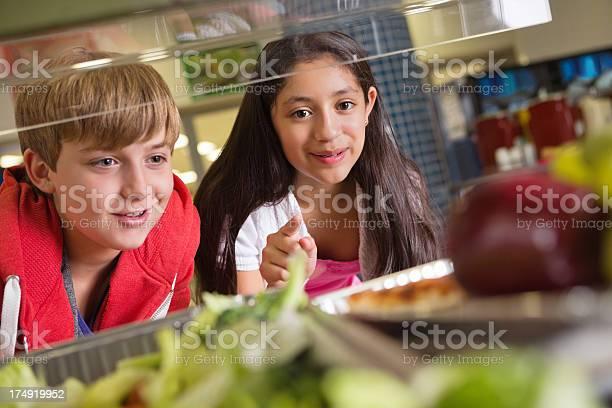 Students choosing healthy or unhealthy food in school lunch line picture id174919952?b=1&k=6&m=174919952&s=612x612&h=iamgmkdgnxlramq 40jepgozr 4ljvx 9vaoytipv3u=