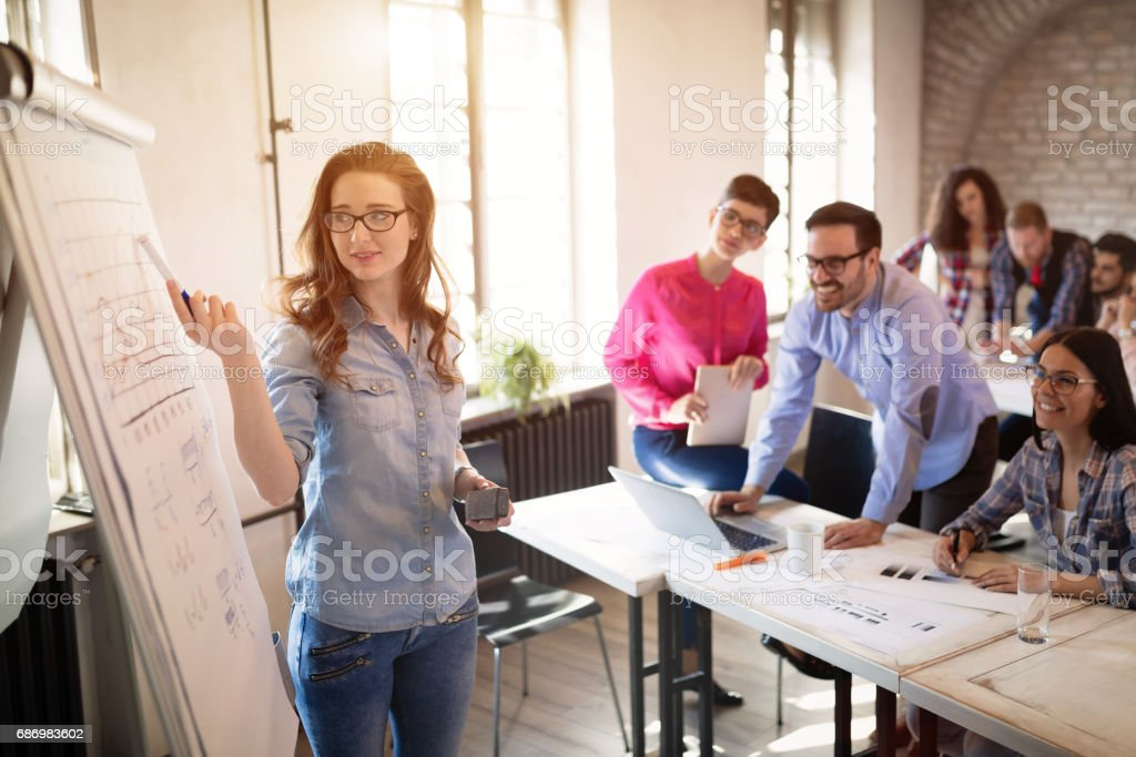 Students College University Education attending lecture stock photo