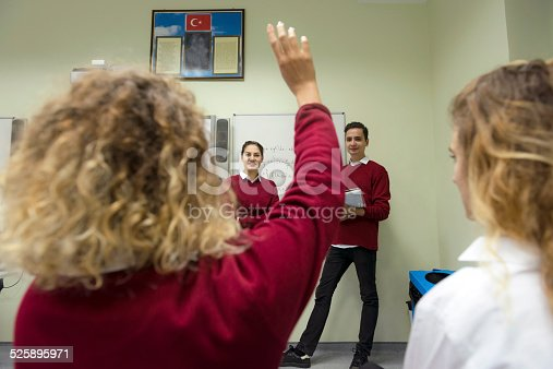 istock Students Doing Math at Secondary School, University inIstanbul, Turkey 525895971