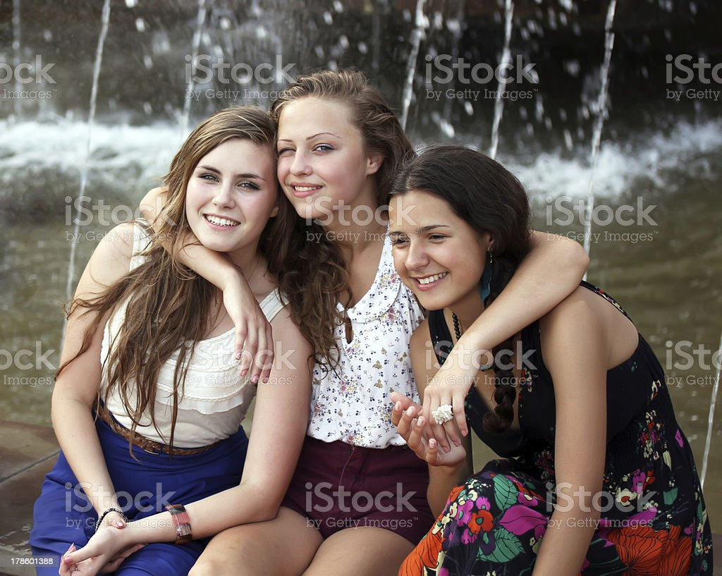 Students girls. stock photo