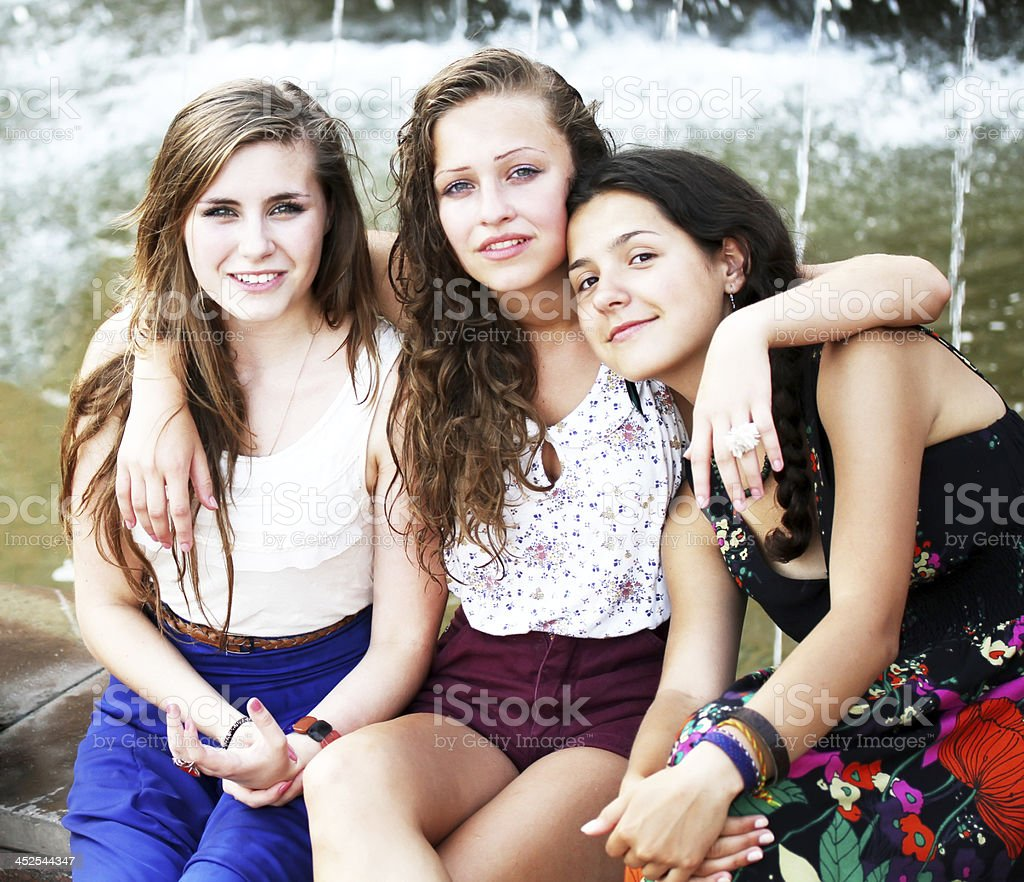 Students girls stock photo