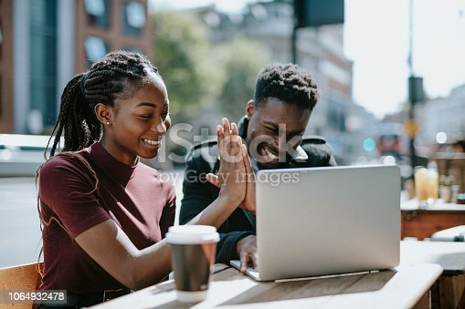 istock Students giving each other a high five 1064932478