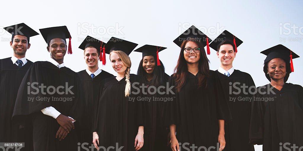 Students Graduation Success Achievement Concept stock photo
