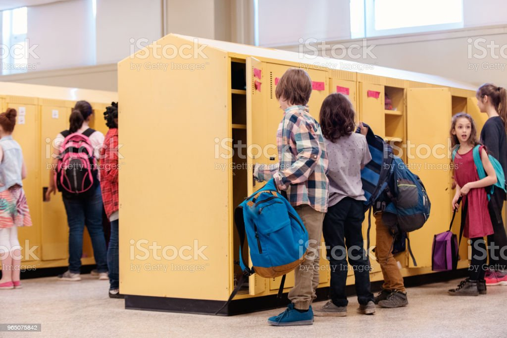 Students happy because it is school's out royalty-free stock photo