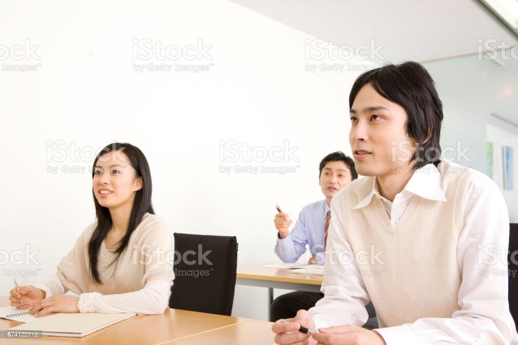 學生必須參加文化課程 免版稅 stock photo