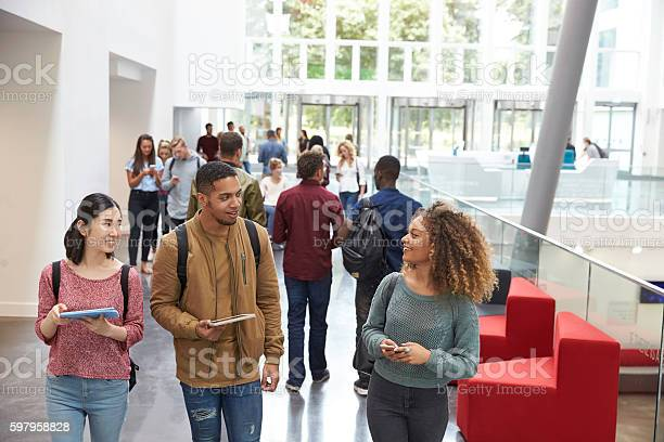 Students holding tablets and phone talk in university lobby picture id597958828?b=1&k=6&m=597958828&s=612x612&h=biopa jta9vc6qlsyapn1gubwzh1etcoquhvr7a2au8=