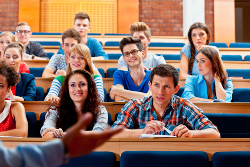 Students In A Lecture Hall Stock Photo - Download Image Now