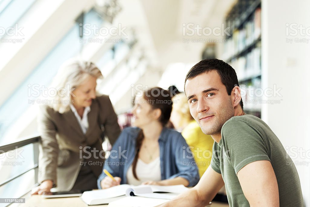 Students in a lecture room royalty-free stock photo