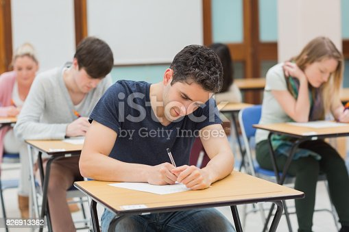 istock Students in an exam 826913362