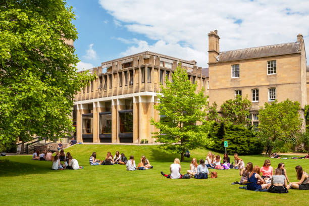 Students in Balliol College. Oxford, England stock photo