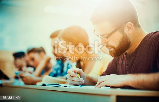 istock Students in class. 534331142