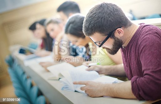istock Students in class. 913399106
