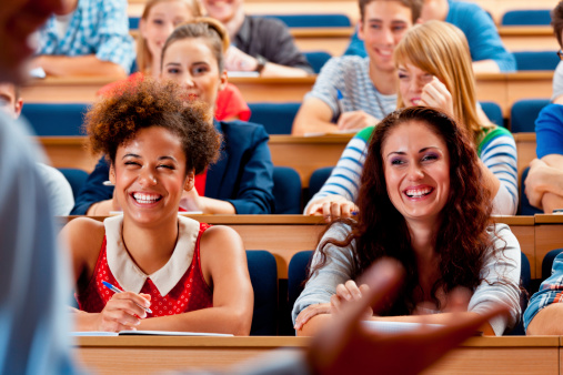 Students In Lecture Hall Stock Photo - Download Image Now