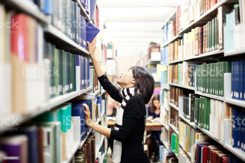 Students in library royalty-free stock photo