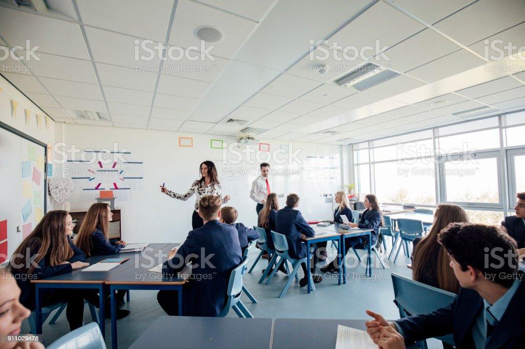 Students in Mathematics stock photo