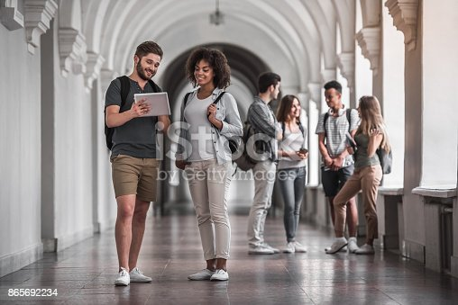 istock Students in the hall 865692234
