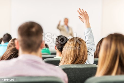 istock Students in the lecture hall. 485340991