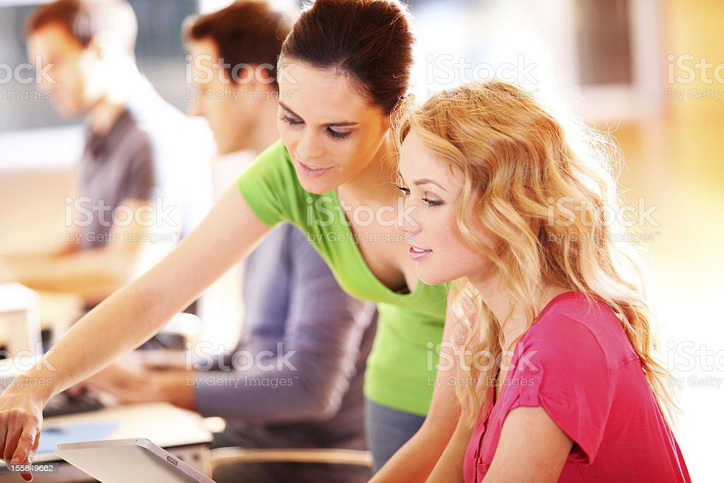 Students in training class royalty-free stock photo