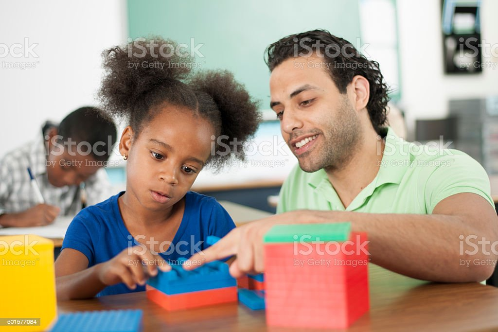 Students Learning Math stock photo