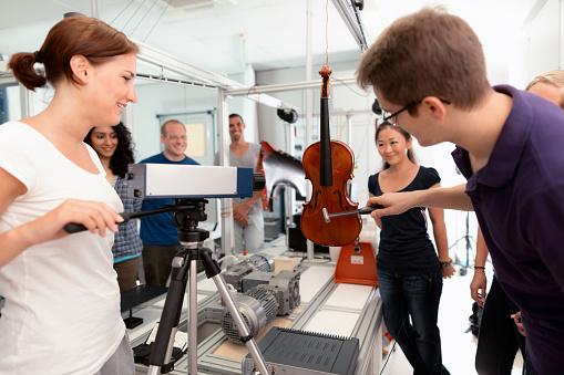 students lesson vibration laboratory