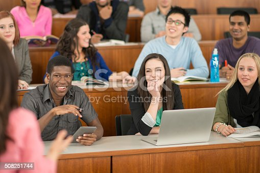 istock Students Listening to a University Lecture 508251744