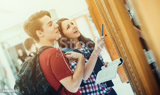 istock Students looking at test results. 543687532
