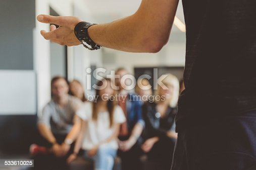 istock Students on semiar 533610025