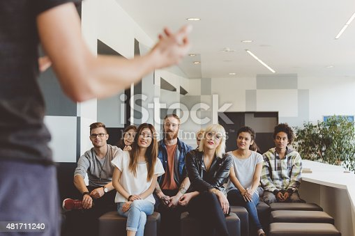 istock Students on seminar listening their teacher 481711240