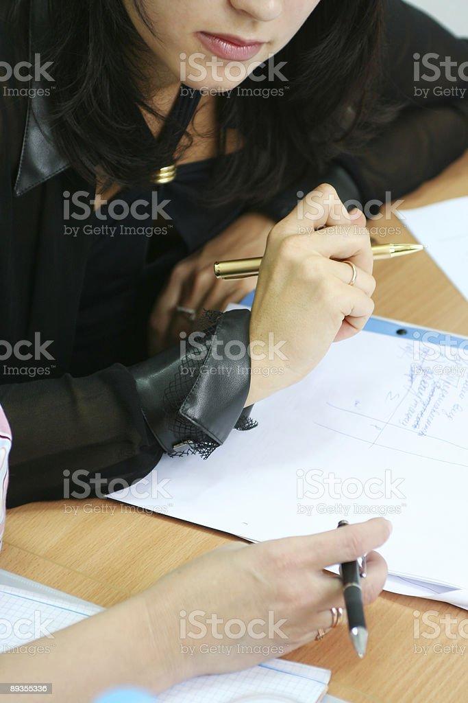 Students on the seminar #2 royalty-free stock photo