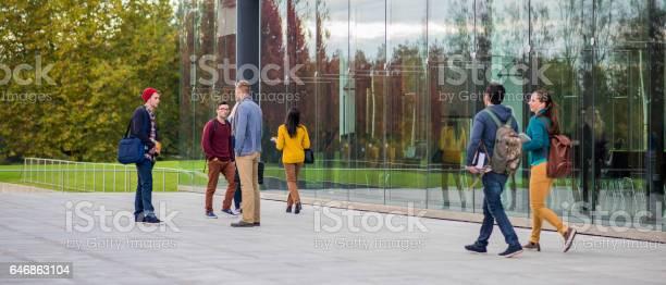Students outside university building picture id646863104?b=1&k=6&m=646863104&s=612x612&h=20yljnca4zvzlr2xhkemywwuw8iqepmtw6girnfqd1c=