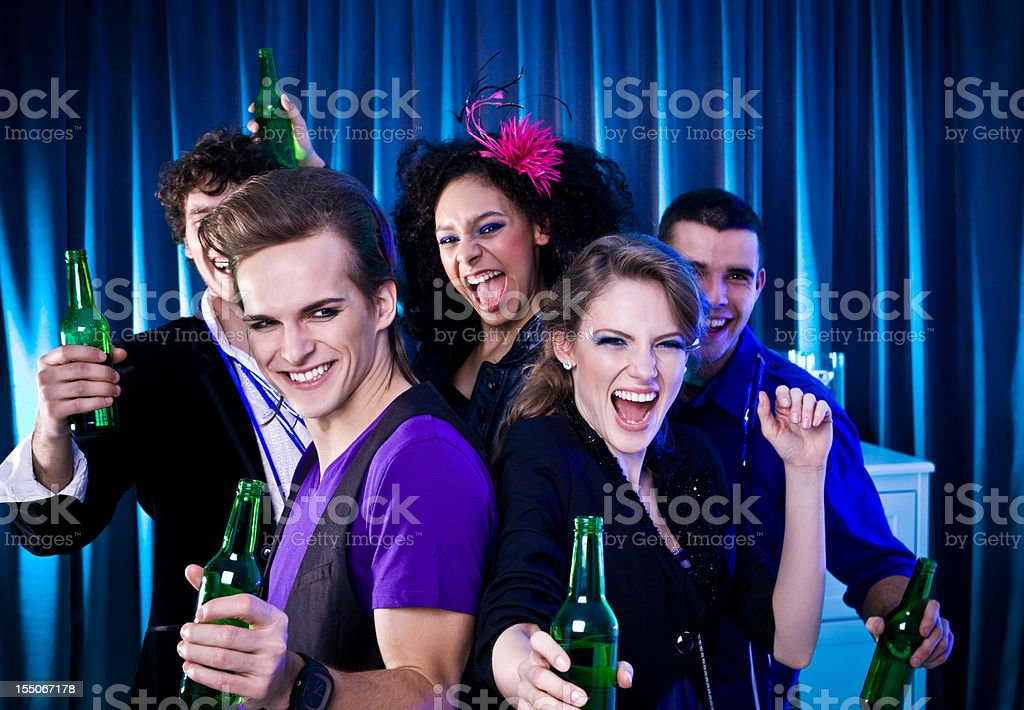 Students Party royalty-free stock photo