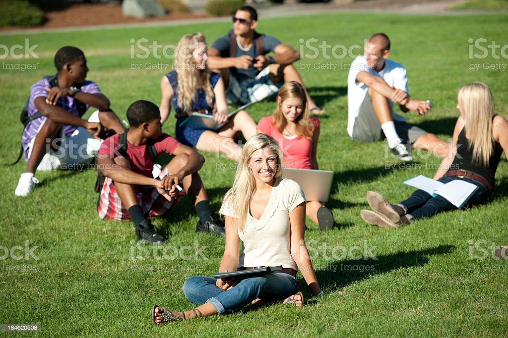 Students royalty-free stock photo