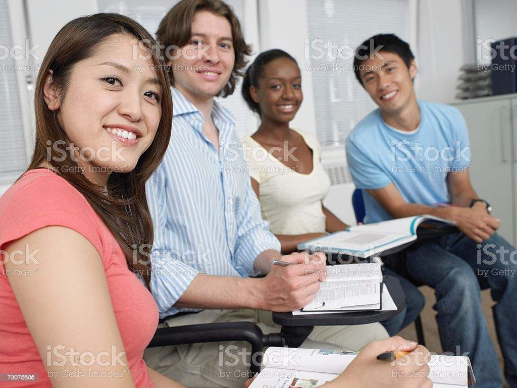 Os alunos foto de stock royalty-free