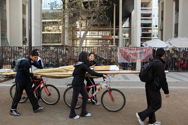 Teilnehmer-Demonstration in Chile – Foto