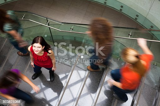 istock Students rushing at the university 523821088
