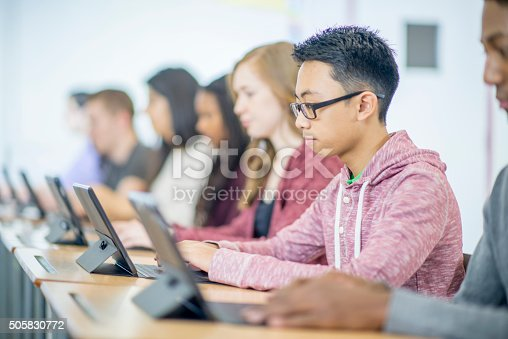 istock Students Sitting at Their Desks 505830772