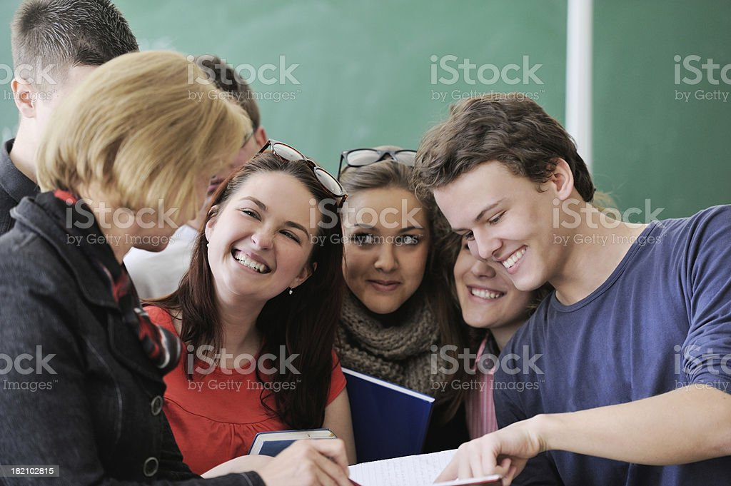 Students smiling stock photo