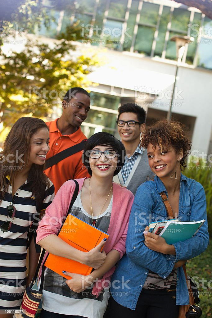 Students smiling together  royalty-free stock photo