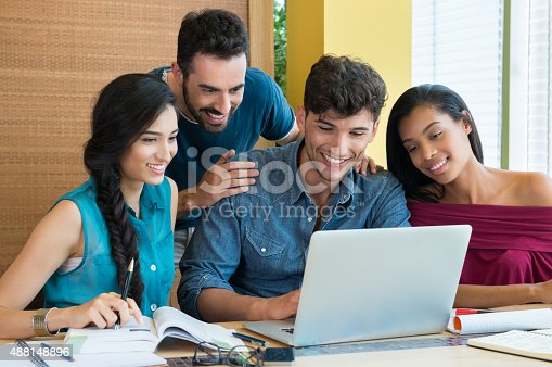istock Students studying at laptop 488148896