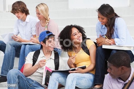istock Students studying outdoors 177204691