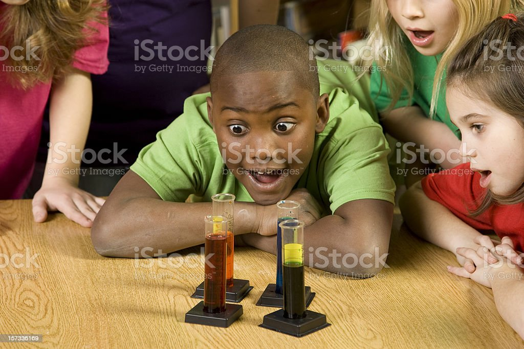 Students Studying Science royalty-free stock photo