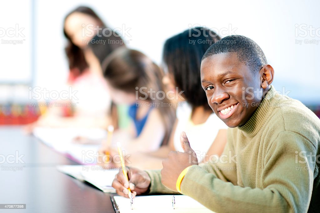 Students taking a Test stock photo