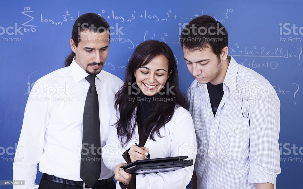 Students using digital tablets royalty-free stock photo