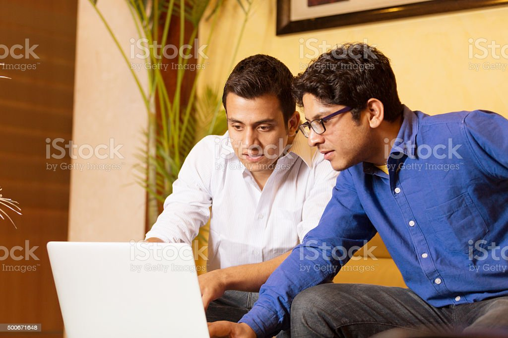 Students Using Laptop stock photo