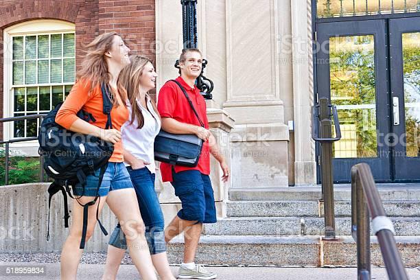 Students walking by university campus college dorm talking about picture id518959834?b=1&k=6&m=518959834&s=612x612&h=0 y9w2jfxk9dpf42 mmpzd q l4ifrmdz3bggn8f9ms=